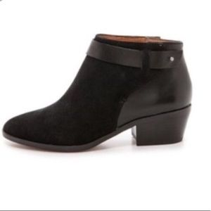 Madewell Black Charley Collar-stud ankle boot